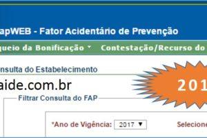 FAP 2017 Já disponível – Fator Acidentário de Prevenção – confira!