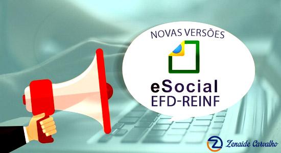 eSocial e EFD-REINF – Publicadas Novas versões – maio/2017