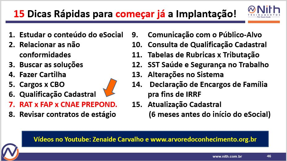 Dicas Rápidas para Implantação do eSocial - Zenaide Carvalho