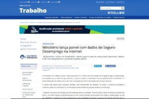 Ministério lança painel com dados do Seguro-Desemprego na internet
