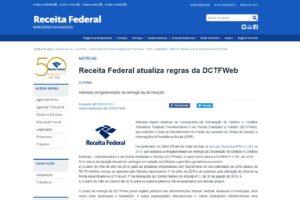 Receita Federal atualiza regras da DCTFWeb