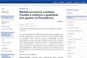 Medida provisória combate fraudes e melhora a qualidade dos gastos na Previdência