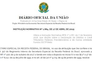 Instrução Normativa Nº 1.884: alteração na DCTFWeb