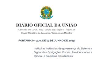 eSocial: publicada Portaria nº 300/2019 que institui nova governança