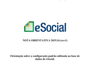 eSocial: revisão da Nota Orientativa 16/2019
