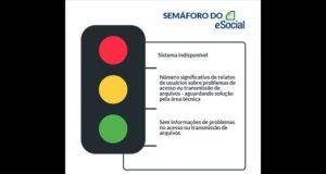 semáforo do eSocial