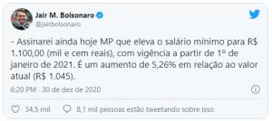 MP 1021: Divulgado salário mínimo de 2021 - Blog Nith Treinamentos