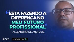 """Alexandro de Andrade """"Está fazendo a diferença no meu futuro profissional"""""""
